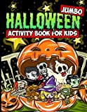 Jumbo Halloween Activity Book for Kids: Halloween Coloring Book with Mazes, Crosswords, Word Searches, Spot the Difference Puzzles and More for Kids Ages 4-8
