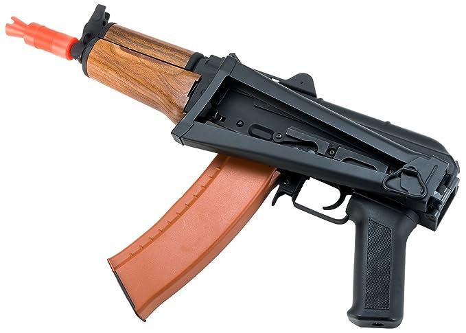 Evike Full Metal AKS-74U / AK-74 Airsoft AEG Rifle with Imitation Wood  Furniture by CYMA - (29565)