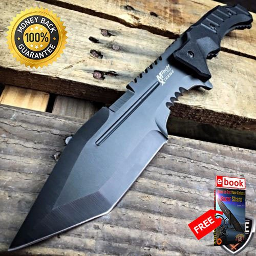 12'' G10 TACTICAL SURVIVAL Rambo Hunting FIXED BLADE KNIFE Army Bowie Machete For Hunting Tactical Camping Cosplay + eBOOK by MOON (12' Machete)