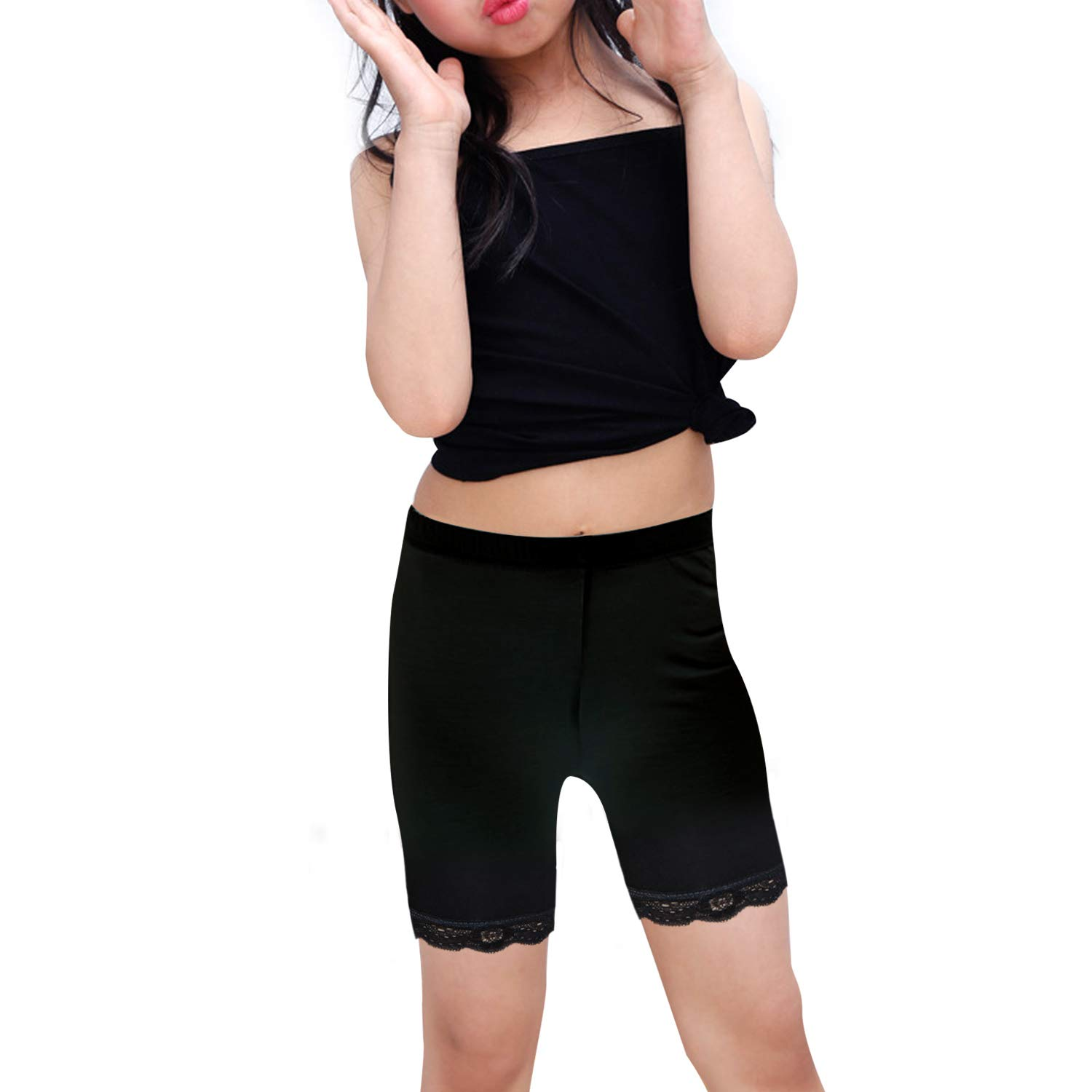 Auranso Girls Bike Dance Shorts 6 Pack Toddler Kids Breathable and Safety Dress Undershorts for Girls Sports Play or Under Skirts 2-10 Years