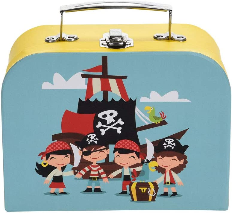 made2trade maletín Infantil – Mantequilla Pan Caja de Almuerzo Lata – Juego con diseños Diferentes de Patrones, Pirata: Amazon.es: Deportes y aire libre