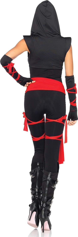 KULTFAKTOR GmbH Sexy Ninja Asia Damenkostüm schwarz-rot S S S 3142d5