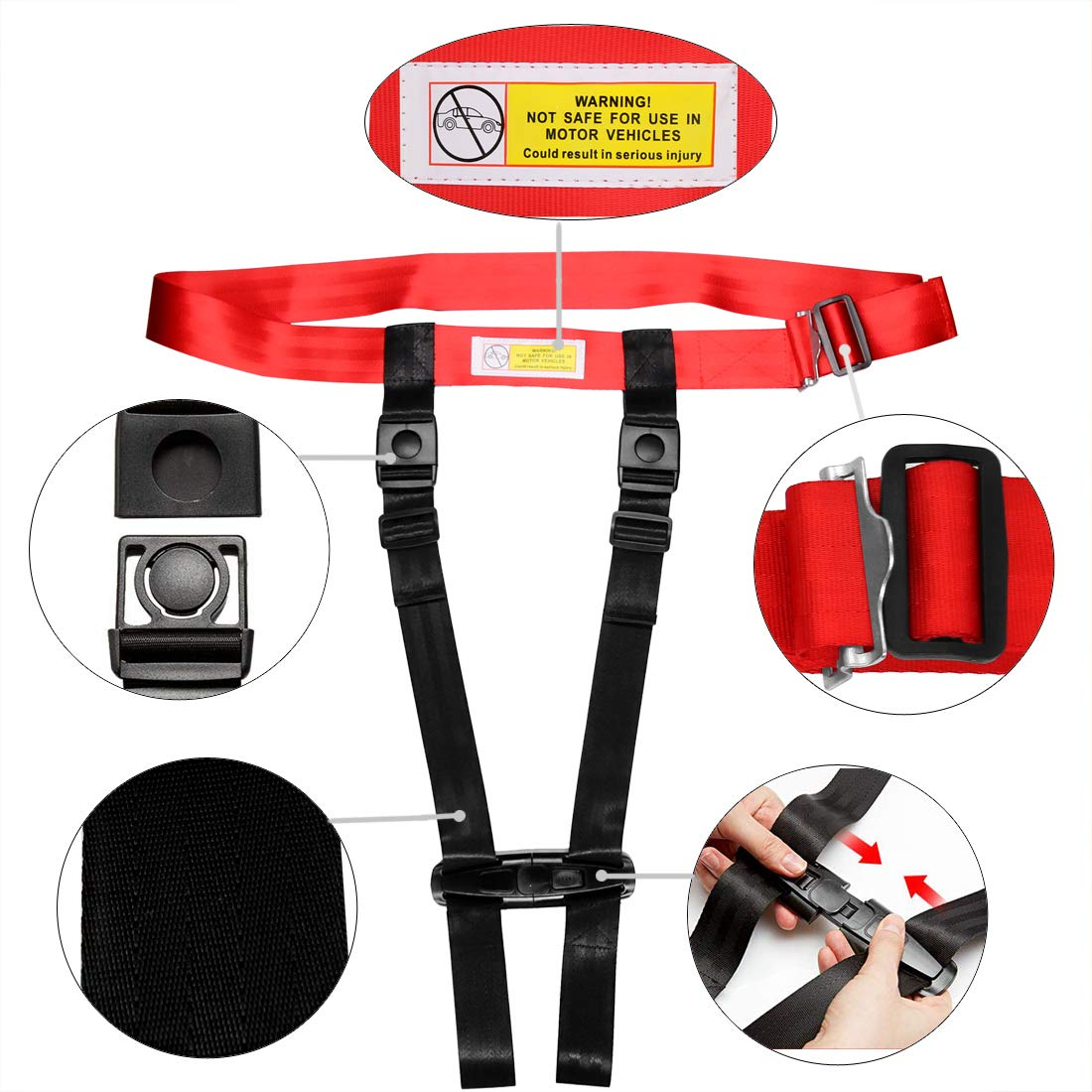 Child Airplane Travel Harness Safety Clip Strap Restraint System for Baby, Toddlers & Kids- for Airplane Travel Use Only by Together-life (Image #3)