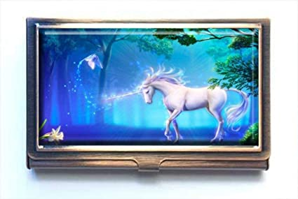 Pretty Unicorn Metal Business Credit Card Case Holder