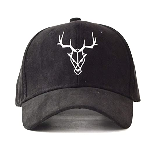 53141d6e3f309 Image Unavailable. Image not available for. Color  Unisex Adjustable Deer-Antlers  Summer Sun-Hat Embroidery ...