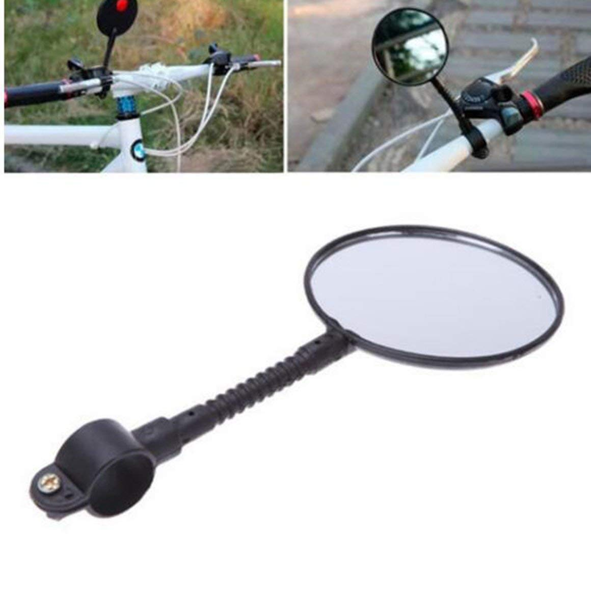 Funnyrunstore Adjustable Rotatable Cycling Mountain Road Bike Motorcycle Bicycle Rear View Mirror Handlebar Rearview Mirror Black
