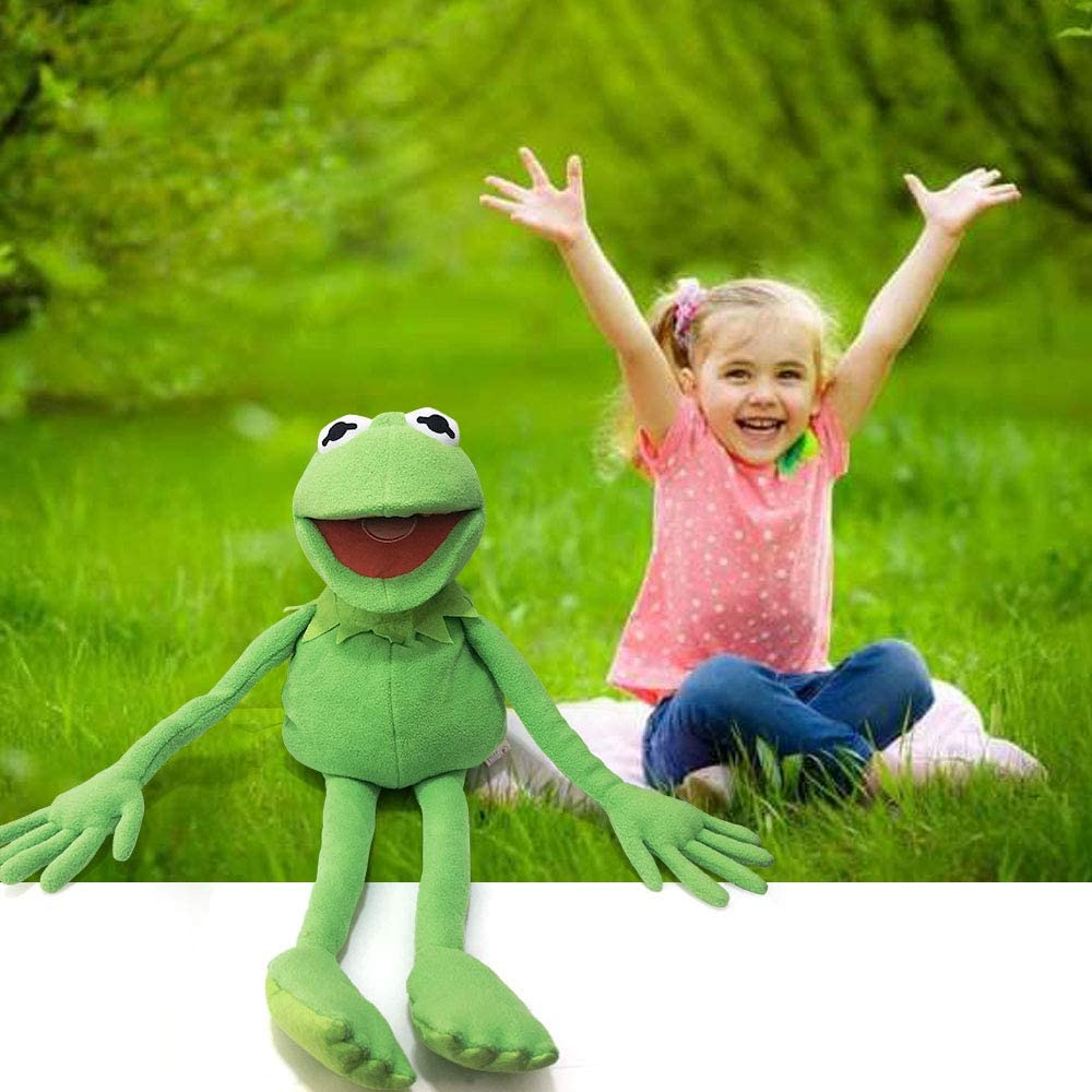 Gift Ideas for Boys and Grils- 27 Inches The Muppets Show Soft Hand Frog Stuffed Plush Toy TQWER Kermit Frog Puppet