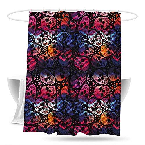 Polyester Fabric Shower Curtain Halloween Mexican Sugar Skulls