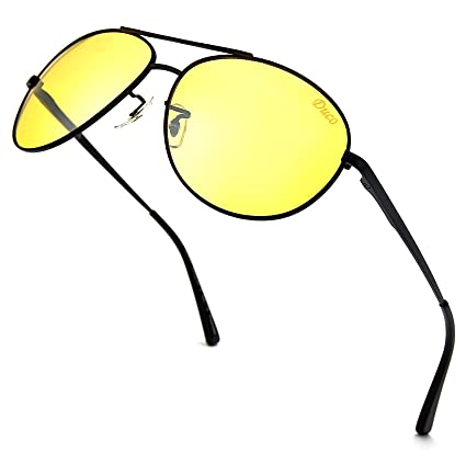 dd5fafced4e DUCO Men s Night-Vision Glasses Driving Glasses Polarized Anti-Glare 3025y  (Shine Back