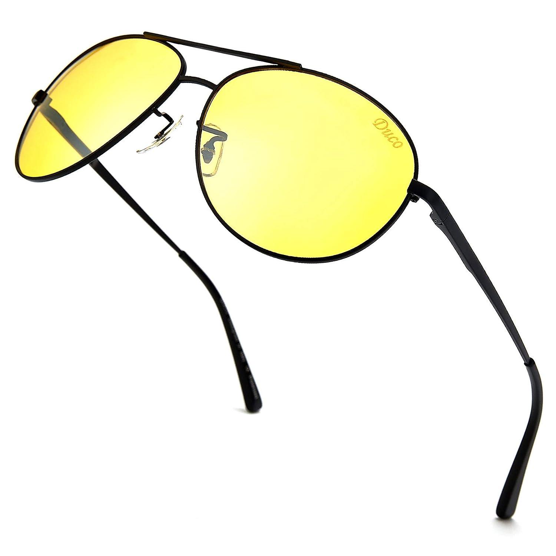 Duco Men's Night-vision Glasses Drivers Glasses Polarized Anti-glare 3025y DC-3025Y-Black-EU