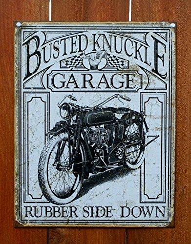 Busted Knuckle Vintage Metal Tin Sign Knuckle Garage Metal Sign