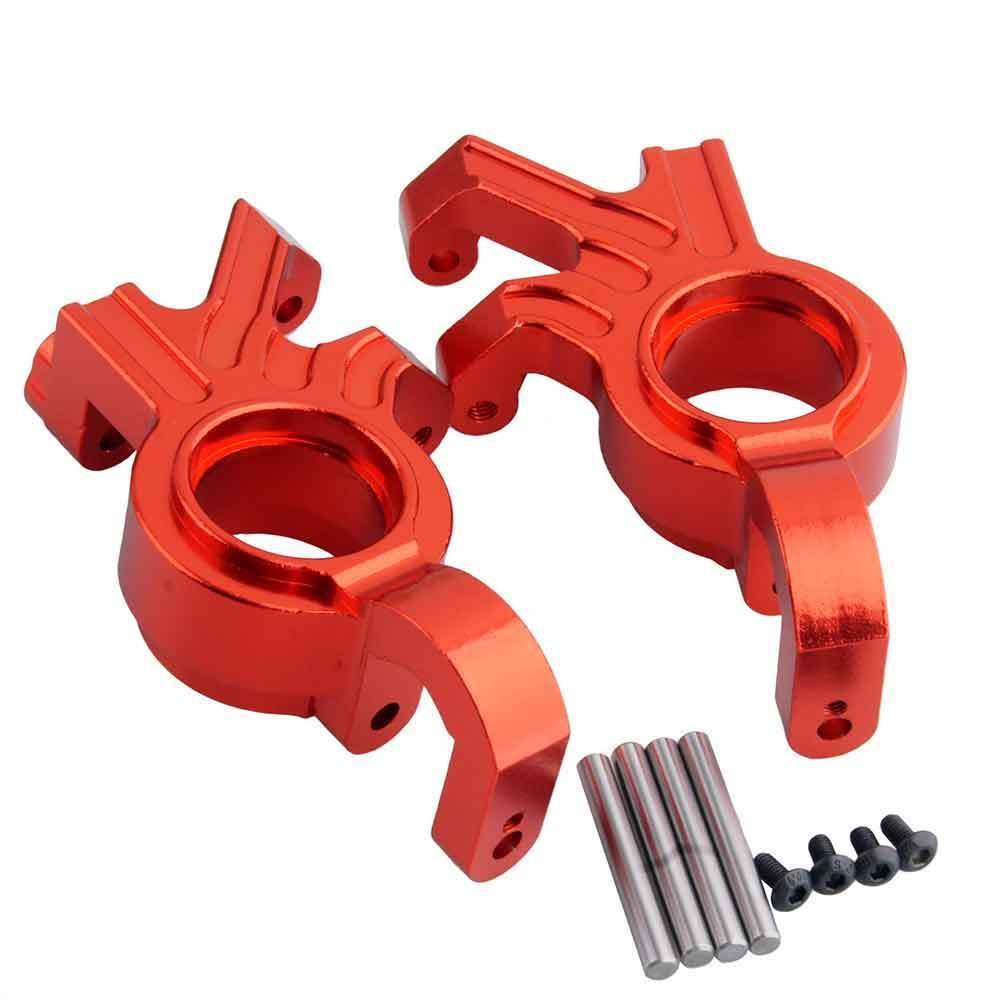 Toyoutdoorparts RC TRA 7737 Upgrade Red Alum Steering Blocks L/R for Traxxas X-MAXX Truck by Toyoutdoorparts (Image #3)