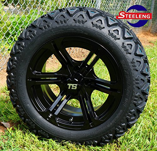 "GOLF CART 14""x7"" REAPER and 23""x10""-14"" ALL TERRAIN TIRES (SET OF 4)"