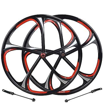 Gimitunus Aleación de magnesio de 26 Pulgadas Rueda de magnesio 5/6 con cojinete de una llanta Tipo de Tarjeta de Bicicleta de montaña Rotary One Wheel: ...