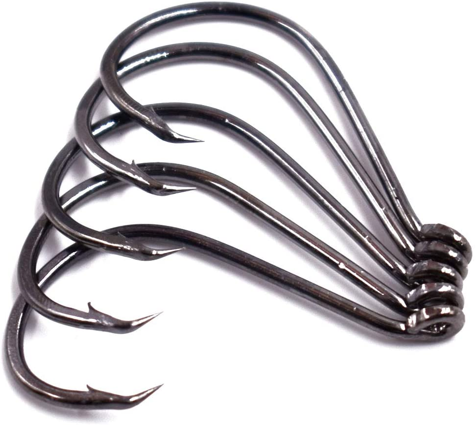 100 GT 2X Offset Circle Fish Fishing Hooks size 4//0-100 Hooks 7384