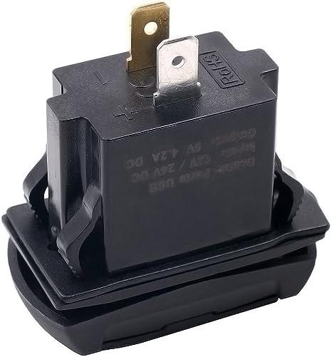 Auto Ladegerät Steckdose Dual USB 12V Mit Spannung Voltmeter PA66 Nylon Verkauf