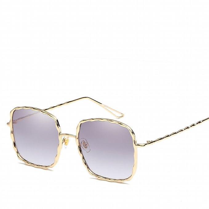 Spirale Muster Metall Sonnenbrille Farbe Film Dame Gläser , Goldrahmen