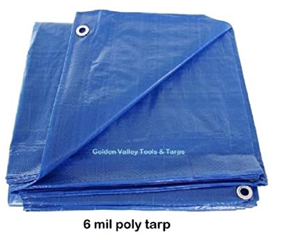 8/' x 20/' BLUE POLY TARP 6 mil