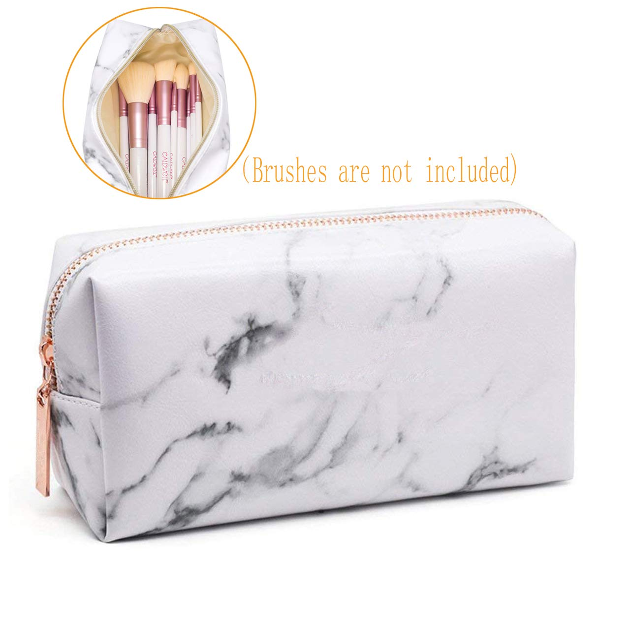 Marble Makeup Bags, Third A Travel Cosmetic Bags Brush Pouch Toiletry Bag Toiletry Wash Bag Fashion Portable Travel Make up Case Pouch for Women Girls