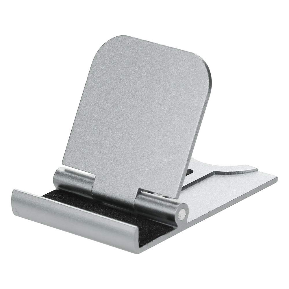 Universal Square Tablets & Cell Phone Stand, Choosebuy Adjustable Portable Metal Stents Mobile Phone Support Mount Bracket, Compatible for iPhone/Smartphones and Tablets (Silver)