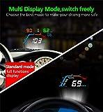 JCOLI 5.5'' Car OBD2 HUD Head Up Display HD
