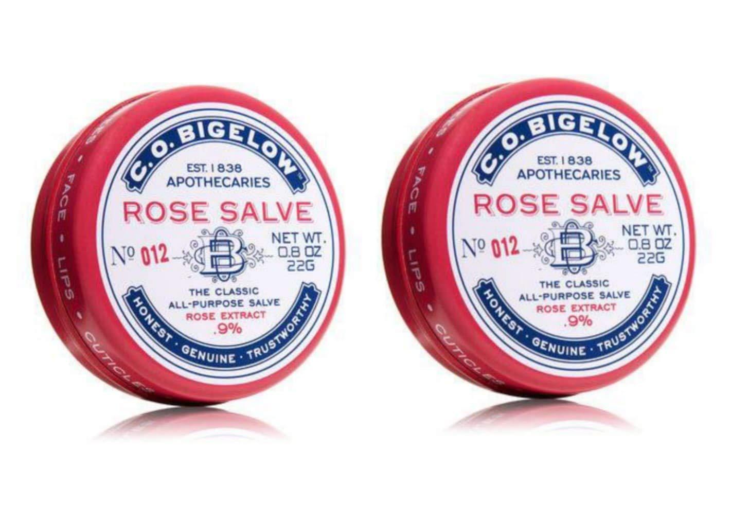All Purpose Classic Rose Salve Lip Balm, .8 Oz (22g) Tin, 2 Pack