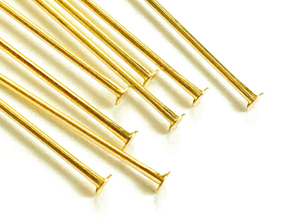 14K Gold Filled Headpin, 2 Inch, 22 Gauge, Choose Package Size (100) by BeadWholesaler