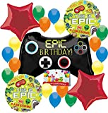 Gamers Game On Epic Party Supplies Controller Birthday Balloon Decorations Bundle (Birthday Party)