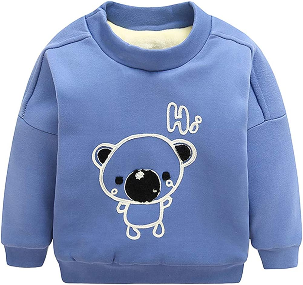 HAXICO Unisex Kids Solid Cotton Thin Pullover Sweatshirt T-Shirt Toddler Baby Crewneck Long Sleeve Tshirts Tops Blouse