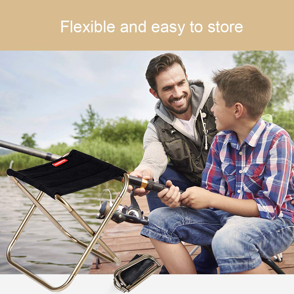 SYLC Mini Ultralight Portable Folding Camping Stool for Outdoor Fishing Hiking Backpacking Travelling Outdoor Little Stools
