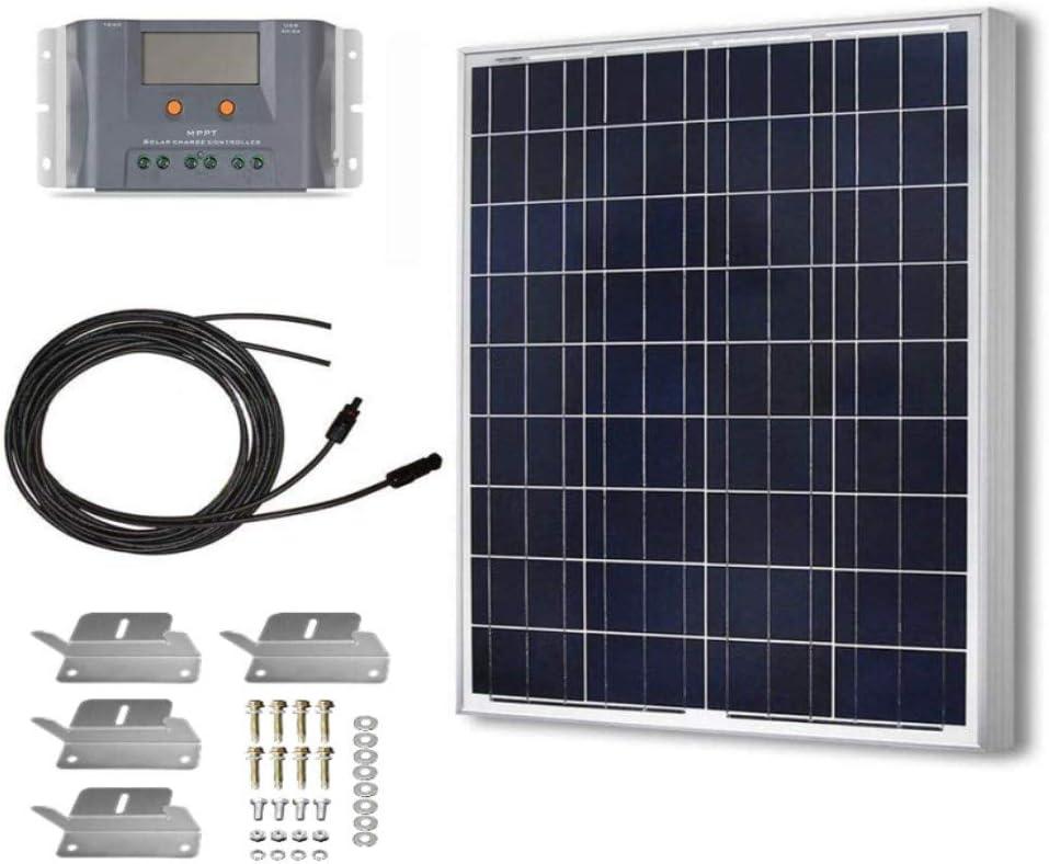 HQST 100 Watt 12 Volt Polycrystalline Solar Panel Kit