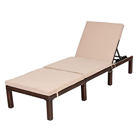 Amazon.com: Silla 4 posiciones Patio al aire libre mimbre ...