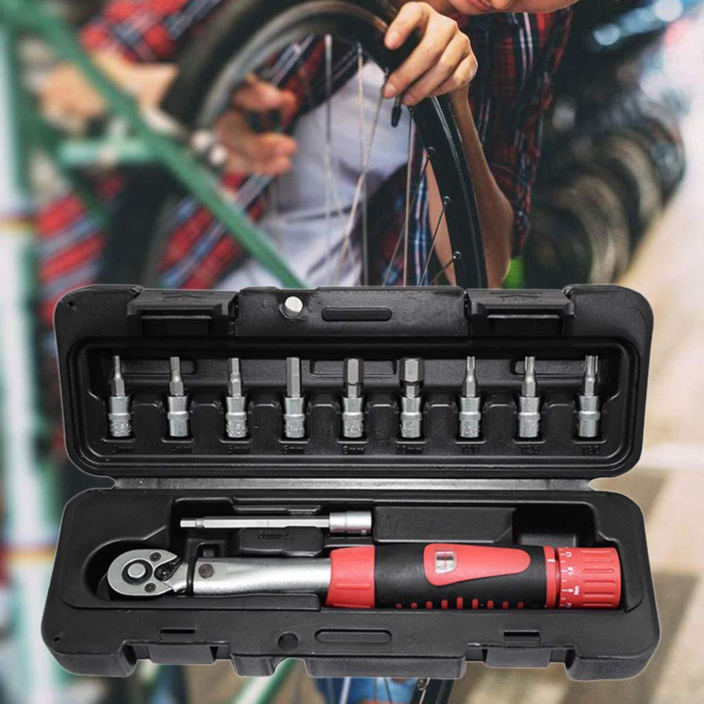 Forgun 1/4'' 2-24Nm Adjustable Bike Torque Wrench Set,Bicycle Repair Tool Kit Manual Ratchet Spanner by Forgun (Image #8)
