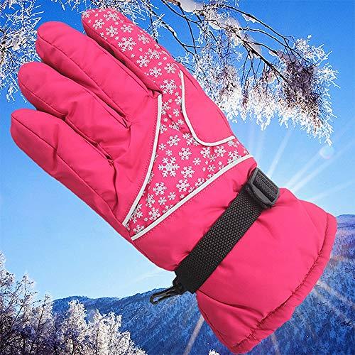 Winter Sport Warm Waterproof Ski Motorcycle Snow Snowmobile Snowboard Gloves (Color : Red) ()
