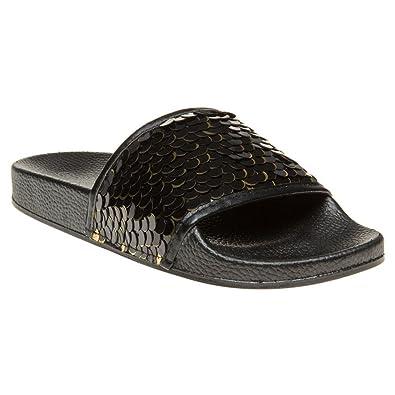6fe4b992880 SOLESISTER Lexi Sandals Black  Amazon.co.uk  Shoes   Bags
