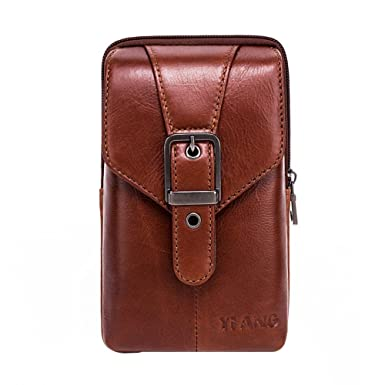 800b7ca186 Vertical Genuine Leather Belt Bag - Pawaca Cellphone Holster Waist Pouch / Phone  Bag Small Travel