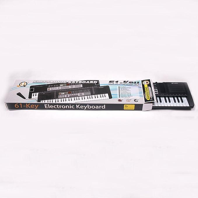Foxom Piano Infantil 61 Teclas Piano Electrico Teclados con Micrófono Piano Juguete Musical Regalo para Niños Infantil Principiantes (Type-2): Amazon.es: ...