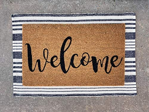 Flocked Coir Doormat – Funny Hope You Brought Wine
