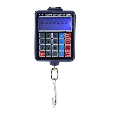 Qotone Básculas de pesaje electrónicas retroiluminadas LCD Mini calculadora de balanzas electrónicas del peso del equipaje