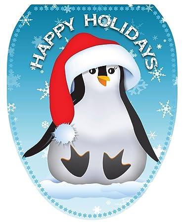 Para inodoro tatuajes tt-x607-o feliz pingüino decorativo apliques ...