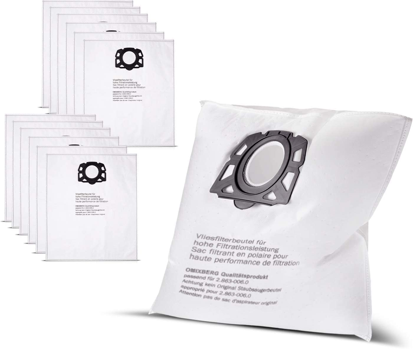 omix Berg 10 bolsas de vellón bolsas para aspiradora Kärcher ...