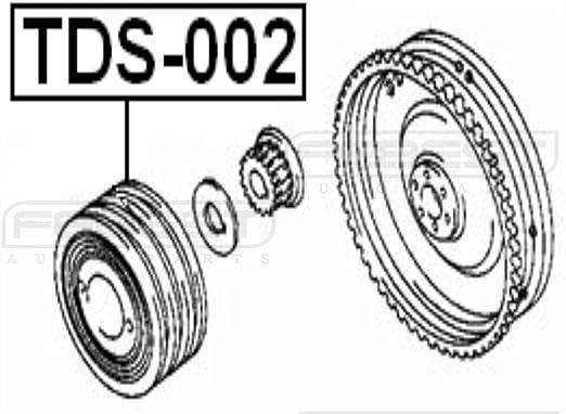 Crank Pulley Harmonic Balancer 2L//2Lte//3L//5L//5Le Fits TOYOTA CROWN GS131