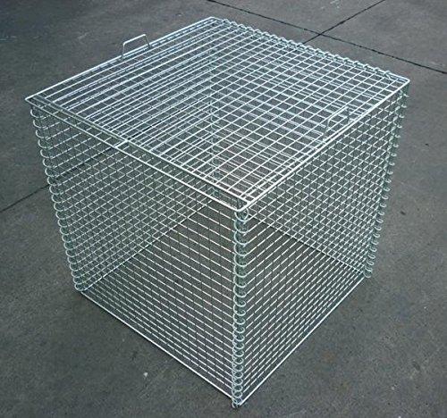 折り畳み式ゴミ収集箱 幅600mm×奥行600mm×高さ650mmスチール製 軽量タイプ B01H364A8G 10500