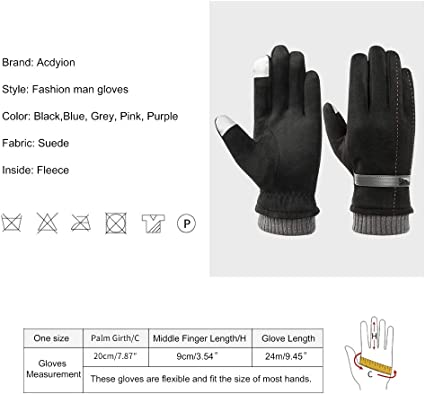 Acdyion Handschuhe Winter Damen Touchscreen K/ünstliches Wildleder super weiche Handschuhe Outdoor Fahrradhandschuhe dickes Fleecefutter Wildlederhandschuhe