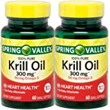 Spring Valley - Krill Oil 300 mg, Omega-3, 120 Small Softgels