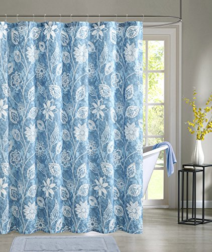 Modern Elegance Embossed Microfiber Shower Curtain 72