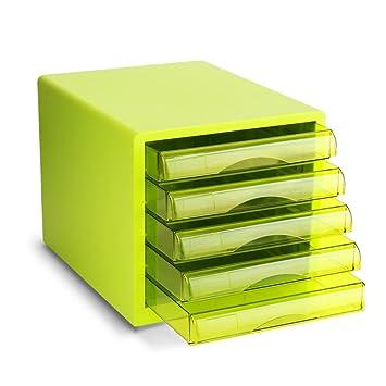 HRRH Escritorio Archivador Gaveta Set - Caja De Almacenaje del Archivo Escritorio A4 Plástico Cajón Datos