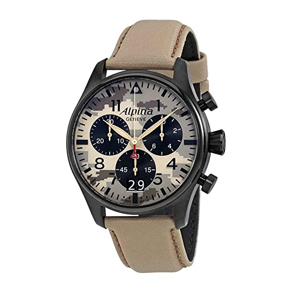 Alpina Startimer Piloto Cronógrafo Mens Reloj 372 mly4fbs6: Amazon.es: Relojes