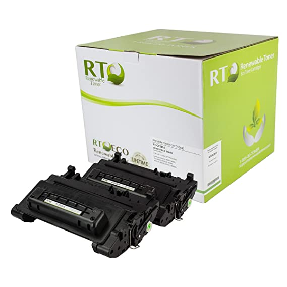 Renewable Toner 81A / HP CF281A Black Toner Cartridge {2 Pack | 10.5k yield} for LaserJet Enterprise M604, M605, M606; M630 MFP Printers at amazon
