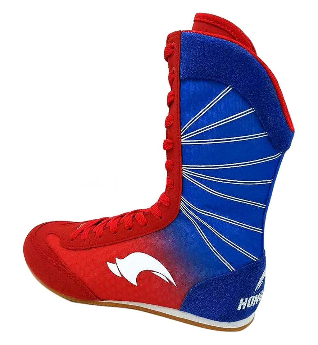 Chaussures de Boxe Haut pour Hommes Femmes Enfants, Bottes Respirantes Boxer